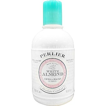 PERLIER White Almond Crema de baño y ducha para piel sensible Frasco 500 ml