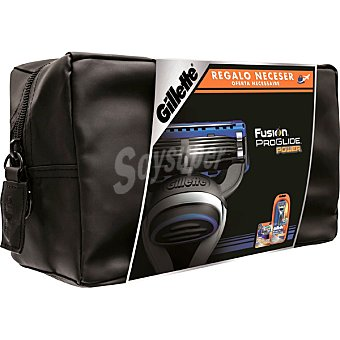 Gillette Fusion Proglide neceser con maquinilla de afeitar Power + cargador  estuche 1 unidad