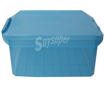 Tatay Caja multiusos con tapa color azul translúcido, 14 litros 1 Unidad