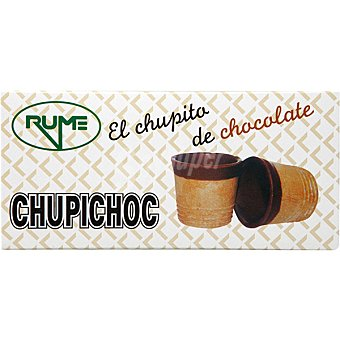 RUME Chupichoc Vasitos de barquillo bañados de chocolate estuche 55 g 10 unidades