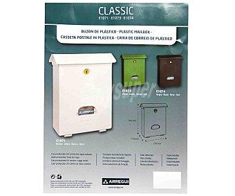 ARREGUI Buzón para Exterior Modelo Classic, Resina de Alta Calidad y Alta Resistencia, Color Blanco, Medidas: 346x270x110 Centímetros 1 Unidad