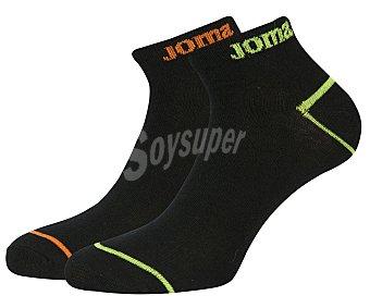 JOMA Pack de 2 pares de calcetines tobilleros de algodón, color negro, talla 43/46 Pack de 2