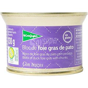 El Corte Inglés Bloc foie gras de pato envase 130 g Envase 130 g