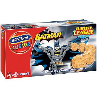 MCVITIE'S JUNIOR Batman Galletas con chocolate Estuche 168 g