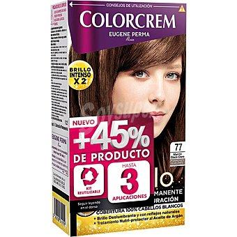 Colorcrem Tinte coloración permanente Color & Brillo marrón glacé claro nº 77 caja 1 unidad
