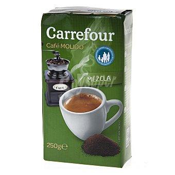 Carrefour Café molido mezcla 50% natural y 50% torrefacto 250 g