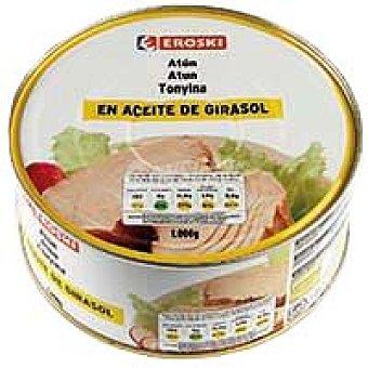 Eroski Atún claro en aceite vegetal Lata 1 kg