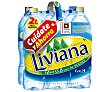 Agua mineral 6 botellas de 2 litros Fuente Liviana