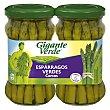 Esparragos verdes cortos especiales para revuelto Pack 2 x 110 g (neto escurrido) Gigante Verde