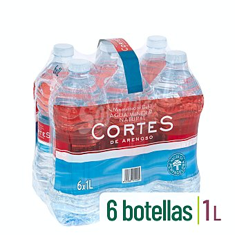 Cortes Agua mineral natural Pack 6 x 1 l
