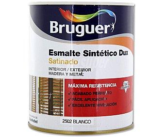 Bruguer Esmalte sintético, de color blanco y acabado satinado, Serie Dux 0,75 litros