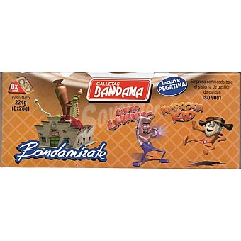 Bandama Galleta de barquillo chocolate Caja 224 g