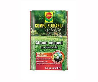 Compo Abono césped Floranid con herbicida selectivo,