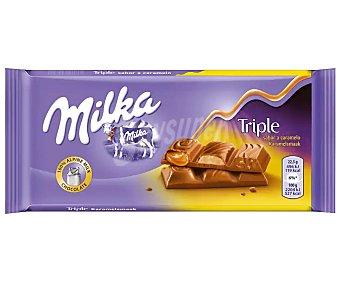 Milka Chocolate con leche triple caramelo Tableta 90 g