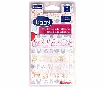 BABY Tetina de silicona, flujo papilla, +4 Meses baby 4M