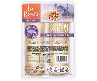 La broche funroll Flautas con extra de relleno de pollo kebab y salsa de yogur 2 x 125 g