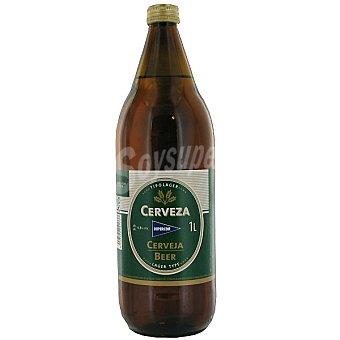 Hipercor Cerveza rubia nacional botella 1 l Botella 1 l