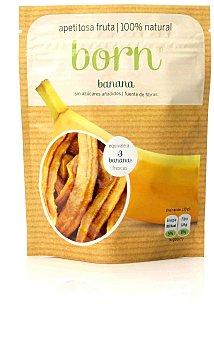 BORN Banana semideshidratada bolsa de 80 gramos