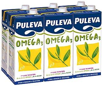 Puleva Preparado lacteo omega 3 con leche desnatada Brick pack 6 x 1 l - 6 l
