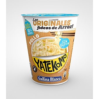 Yatekomo Gallina Blanca Noodles de arroz orientales sin gluten 53 g