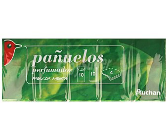 Auchan Pañuelos de Celulosa Mentolados 10 paquetes de 10 unidades
