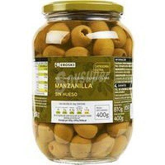 Eroski Aceitunas sabor manzanilla sin hueso Frasco 250 g