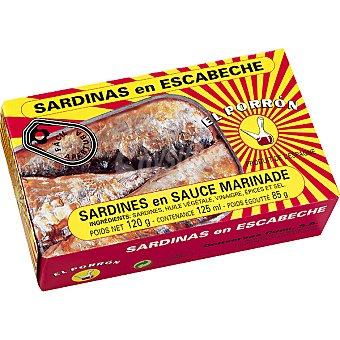 EL PORRON Sardinas en escabeche Lata 85 g neto escurrido