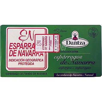 Dantza Espárragos blancos D.O. Navarra muy gruesos 5-7 piezas Lata 220 g neto escurrido