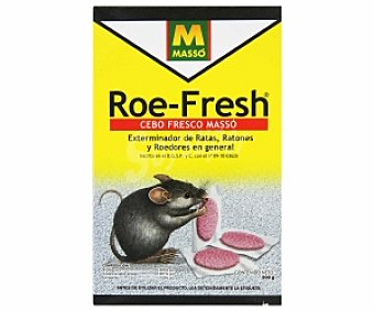 MASSÓ Garden Cebo fresco, exterminador de ratas, ratones y roedores en general 200 Gramos