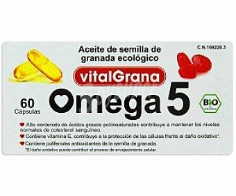 VITALGRANA Complemento alimenticio Omega 5, aceite de semilla de granada ecológico 60 C