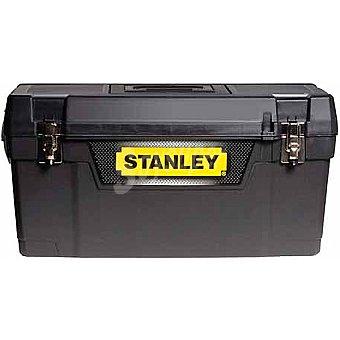 STANLEY Caja de herramientas con cierres metálicos, color gris/amarillo de 50 cm