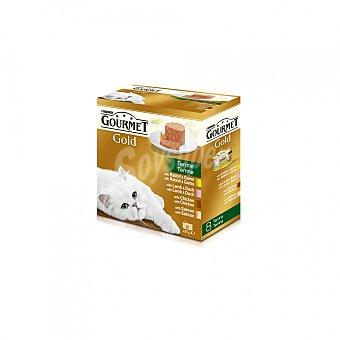 Gourmet Gold Comida para gatos Terrine Surtido Pack 8x85 g