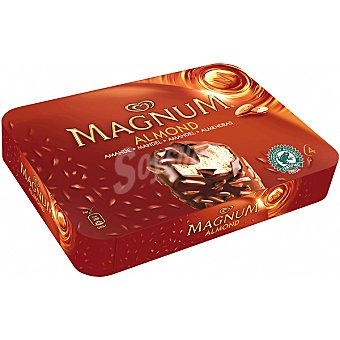 Frigo Magnum Helado de vainilla con chocolate y trozos de almendra Almond 4 unidades estuche 440 ml 4 unidades