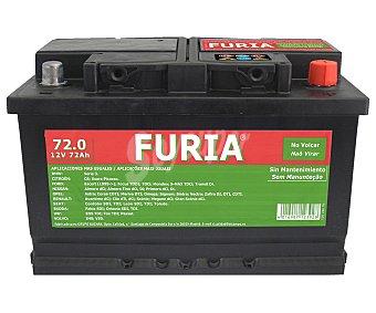 FURIA Batería de Automóvil de 12 Voltios 72 Ah, Potencia de Arranque: 620 Amperios 1 Unidad