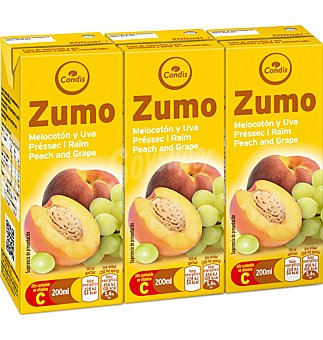 Condis Zumo meloc-uva Pack 3 uni