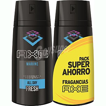 Axe Desodorante Marine pack ahorro 2 spray 150 ml pack ahorro 2 spray 150 ml