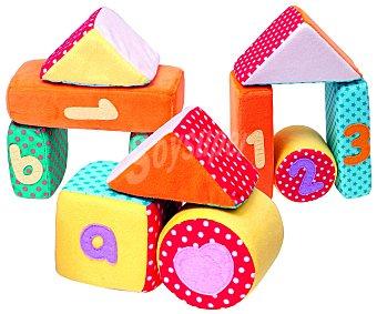 BABY 11 Cubos de Tela Apilables con Formas y Colores 1 Unidad