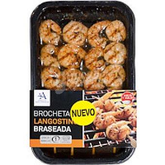 Angulas Aguinada Brocheta de langostino braseda Bandeja 145 g
