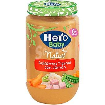Hero Baby Tarrito guisantes tiernos con jamón desde 6 meses  Tarro 235 g