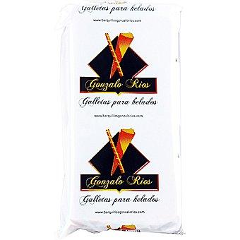 GONZALO RIOS Galletas obleas para helados Paquete 25 g