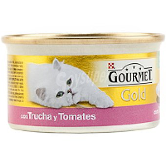 Gourmet Purina Alimento para gatos Vegetal trucha Gold Tarrina 85 g