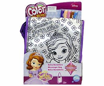 CIFE Color Me Mine Bolso Bandolera Princesa Sofía con Efecto Metalizado y Purpurina 1 Unidad