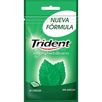 Trident Chicles trident sabor a hierbabuena  1 caja 30 uds
