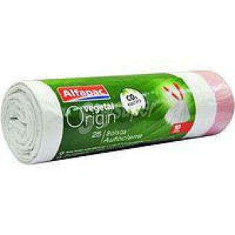 ALFAPAC Bolsa de basura veg. c. cierre 10 l. Paquete 25 unid
