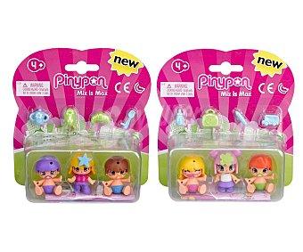 Pin y pon Mini muñecas Niños & Bebés Mix is Max, pinypon Pack de 3