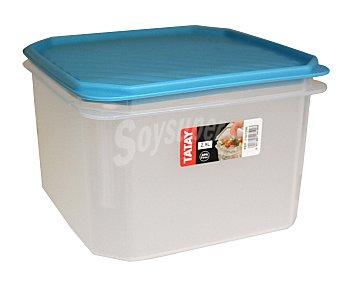 Tatay Taper de plástico con tapa color azul lavanda, 2,9 litros 1 Unidad