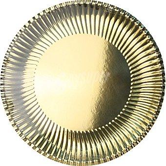 ONEUSE Plato redondo dorado 30 cm Paquete 4 unidades