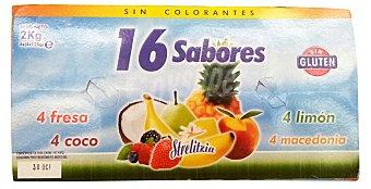STRELITZIA Yogur sabores variados Pack 16 x 125 g - 2 kg