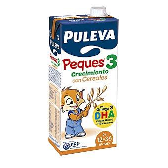 PULEVA PEQUES Preparado lácteo infantil crecimiento con cereales desde 12 meses Puleva Peques 3 envase 1 l