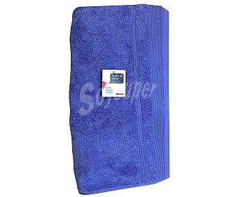 AUCHAN Toalla 100% algodón lisa de baño, color azul, 100x150 centímetros 1 Unidad